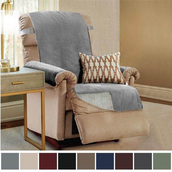 7. Gorilla Grip Original Slip Resistant Recliner Slipcover Protector, Seat Width Up to 26 Suede-Like, Patent Pending
