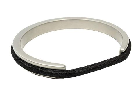 7. Maria Shireen Athleisure Hair Tie Bracelet - Lightweight Aluminum Hair Tie Holder