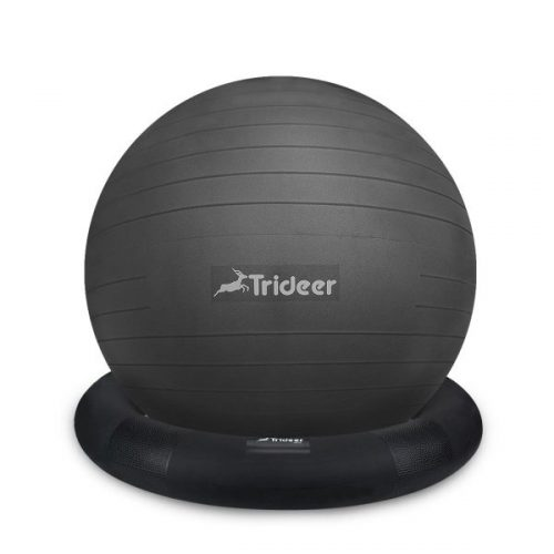 7. Trideer Ball Chair – Exercise Stability Yoga Ball with Base for Home and Office Desk, Ball Seat