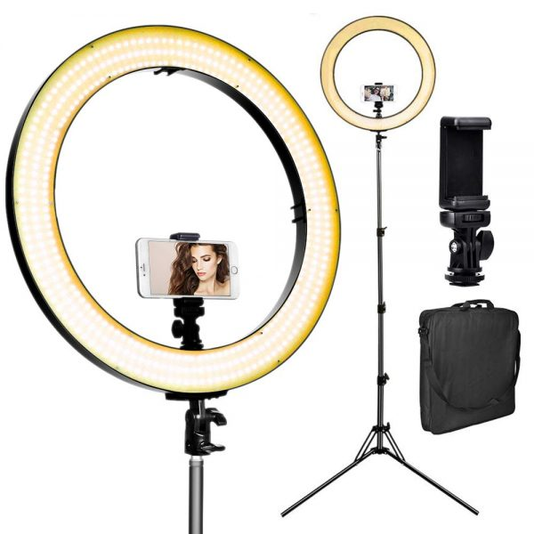 8. Stand, 720 LED 3200-5600K Warm,White, Digital Display Dimmable Video Light, Camera Phone Holder & Carrying Case, USB Power Output for Studio Make