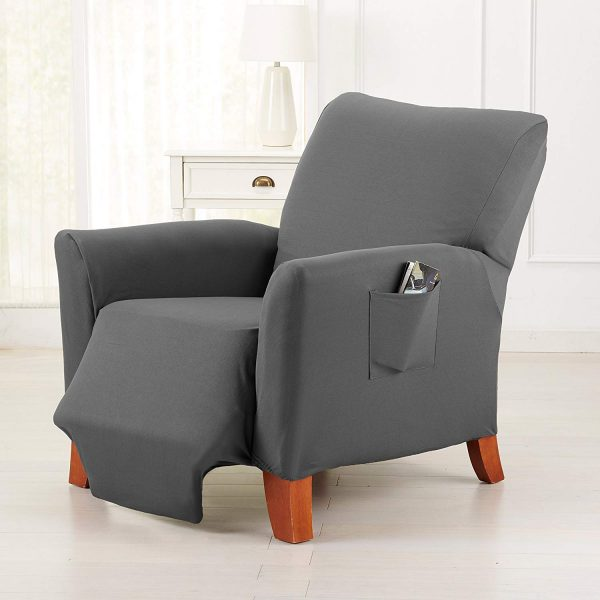9. Dawson Collection Basic Strapless Slipcover. Form Fit, Slip Resistant, Stylish Furniture