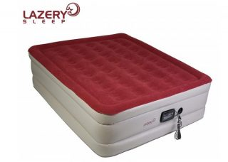9. Lazery Sleep Air Mattress – Raised Electric Airbed with Built in Pump & Carry Bag – Fast Inflation