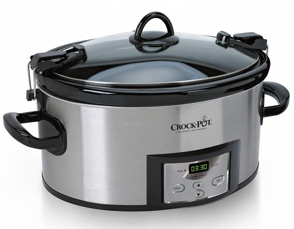 1. Crock-Pot SCCPVL610-S-A 6-Quart Cook & Carry Programmable Slow Cooker with Digital Timer, Stainless Steel