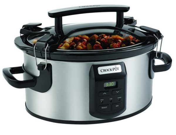 10. Crock-Pot Cook and Carry Cooker with Digital Control 6 Qt Silver
