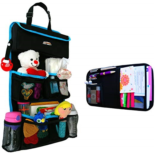 3. Fancy Mobility Car Backseat Organizer - Baby Accessories, Kids Small Toys & Travel Essentials Holder - Great Storage Bag for Road Trips