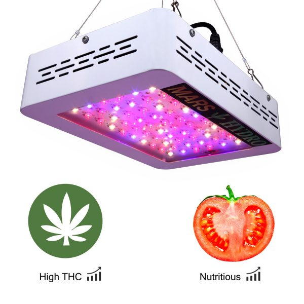 3. MarsHydro LED Grow Light 300W 600W 1200W Full Spectrum for Hydroponic Indoor Plants Growing Veg and Flower