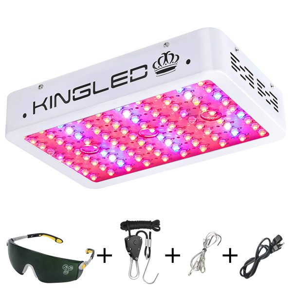 4. King Plus 1000w LED Grow Light Double Chips Full Spectrum with UV&IR for Greenhouse Indoor Plant Veg and Flower