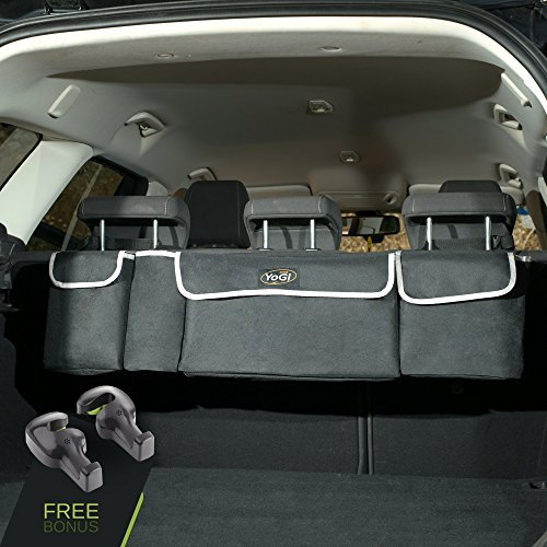 5. YoGi Prime Trunk and Backseat car Organizer, Trunk Storage Organizer Will Provides You The Most Storage Space Possible
