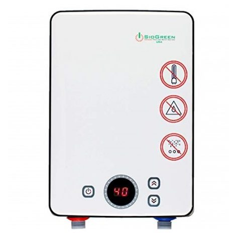 6. Sio Green IR30 POU Electric Tankless Water Heater - Infrared Tank-Less Instant Hot Water Heater