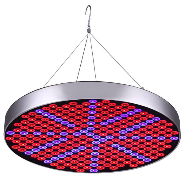 7. 50W LED Plant Grow Lights, Shengsite UFO 250 LEDs Indoor Plants Growing Lamp Bulbs with Red Blue Spectrum Hydroponics Plant Hanging Kit