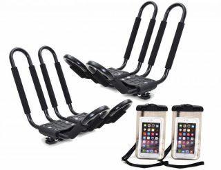8. TMS 2 x Roof J Rack Kayak Boat Canoe Car SUV Top Mount Carrie