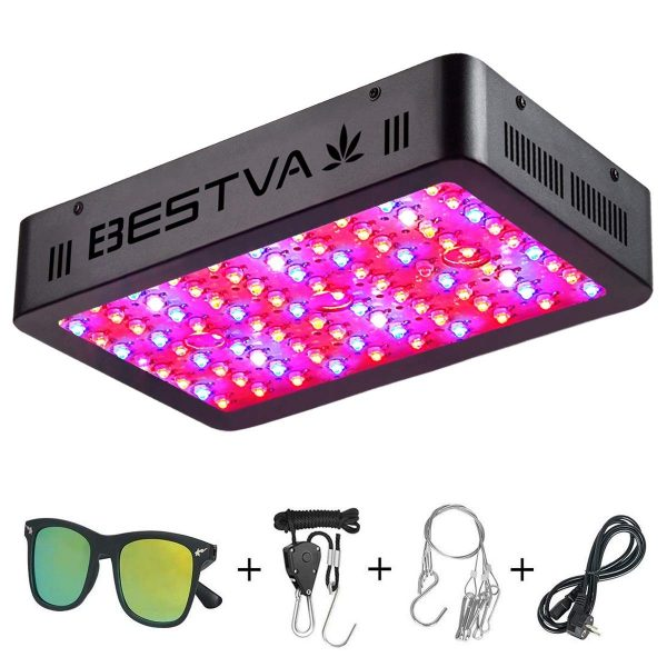 9. BESTVA 1000W LED Grow Light Full Spectrum Dual-Chip Growing Lamp for Hydroponic Indoor Plants Veg and Flower