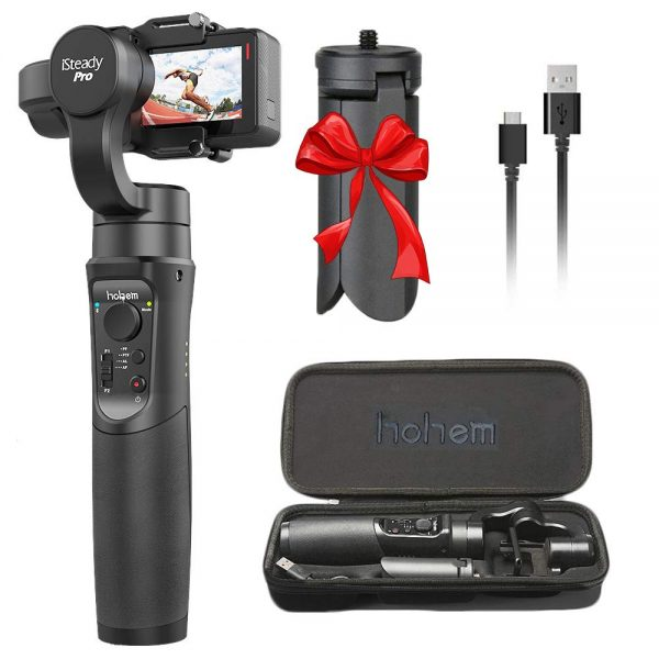 1. Hohem iSteady Pro 3-Axis Handheld Gimbal Stabilizer for Gopro Hero