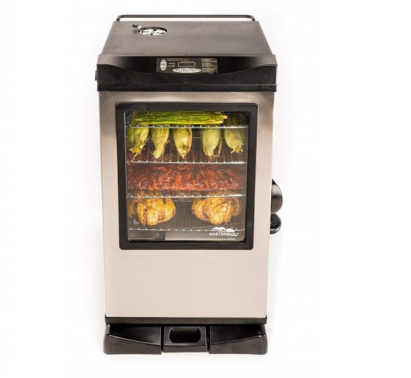 1. Masterbuilt 20077515 Front Controller Electric Smoker with Window and RF Controller, 30-Inch