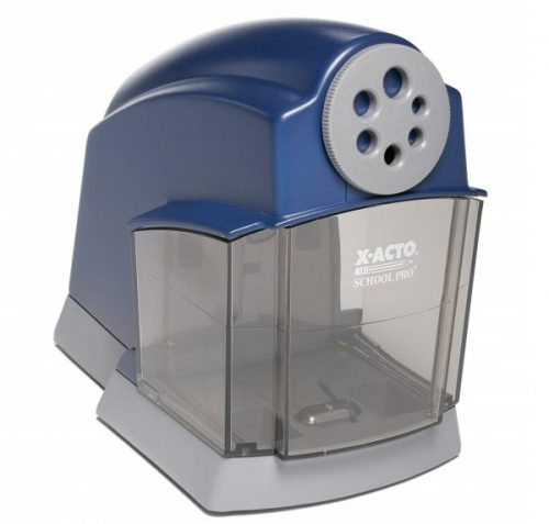 1. X-ACTO School Pro Classroom Electric Pencil Sharpener, Blue, 1 Count (1670)
