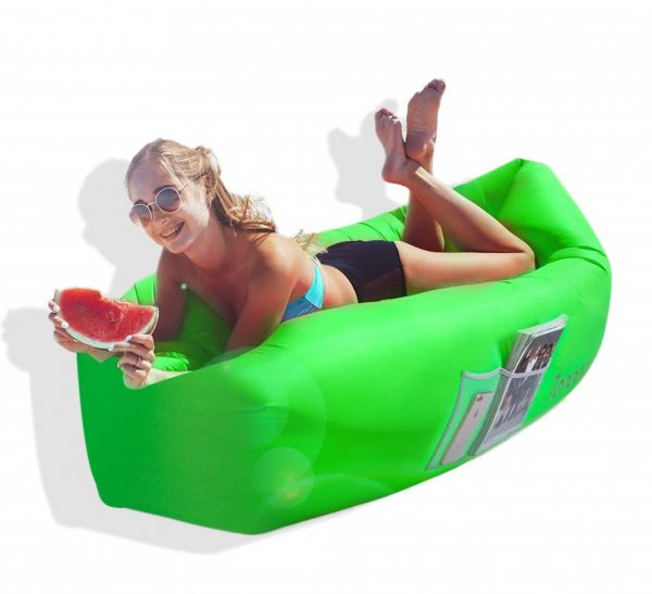 10. Toneeta Inflatable Lounger Air Sofa, Portable Waterproof Inflatable Air Couch Ultra Durable with Side Pocket - for Travel, Hiking, Beach and Yard