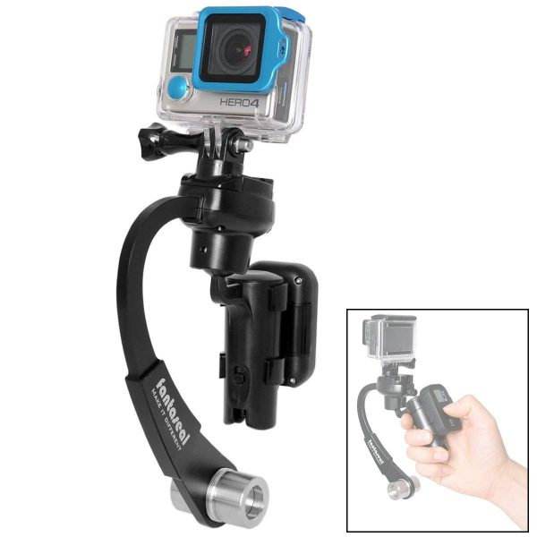 2. 3-Axis Inertia Gyro Stabilizer Remote Control Holder Clip Grip Handle Stabilizer Gimbal Compatible with GoPro Hero