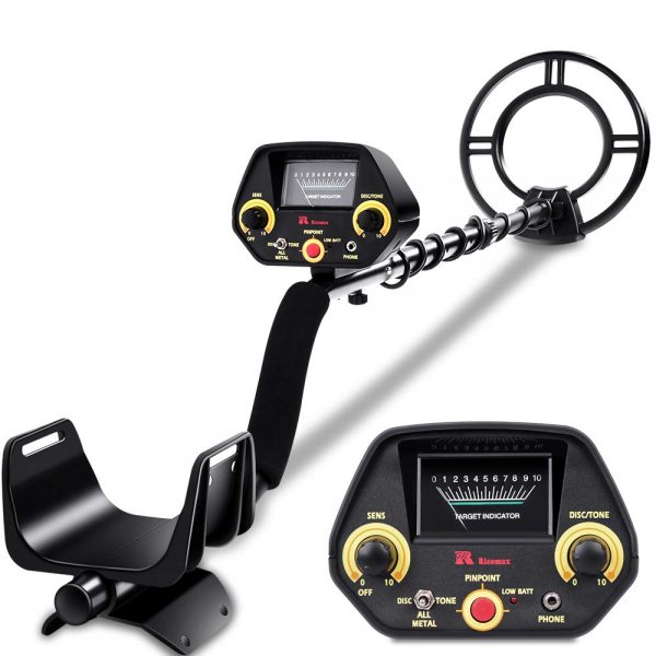 4. RM RICOMAX Metal Detector - High-Accuracy Metal Finder with Discrimination Mode, Tone Mode