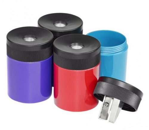 4. Staedtler Pencil Sharpener, Premium Quality Sharpener with Screw-on lid, Prevents Accidental Openings