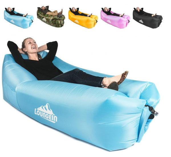 6. KyRush It Inflatable Lounger air Couch Chair Sofa Pouch