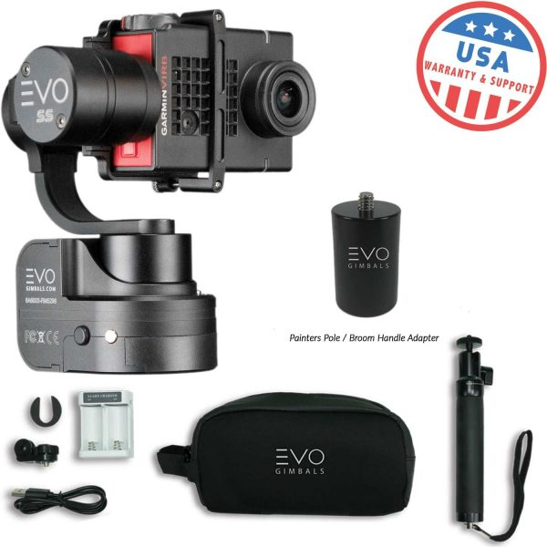 7. EVO SS 3 Axis Wearable Gimbal - Stabilizer for GoPro Hero4, Hero5, Hero6 Black, Yi 4K+, Garmin Virb Ultra 30-1 Year USA Warranty