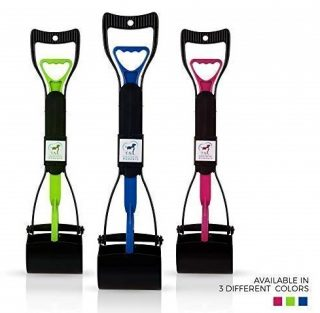 7. Pooper Scooper, Jaws for Easy Grass Pick Up, Pet Waste Bags Included,Foldable Scooper