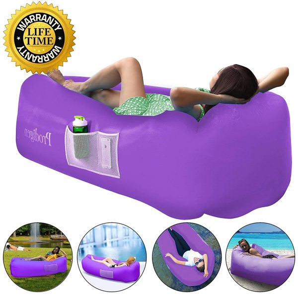 7. Prodigen Inflatable Lounger Chair, Air Sofa Inflatable Couch Outdoor Anti-Air Leaking Waterproof Portable Inflatable Hammock Air Couch Pool, Floor, Camping, Beach