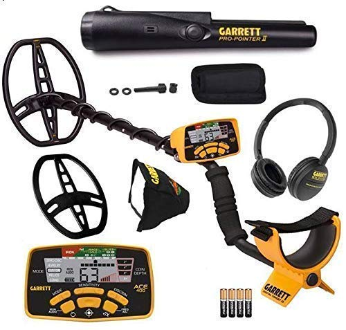 8. Garrett ACE 400 Metal Detector with DD Waterproof Search Coil and Pro-Pointer II