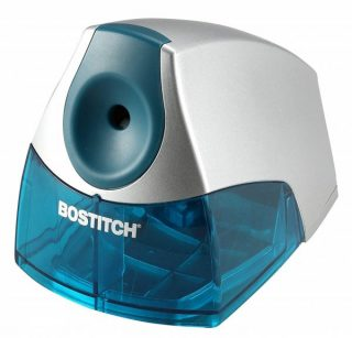 9. Bostitch Personal Electric Pencil Sharpener, Blue (EPS4-BLUE)