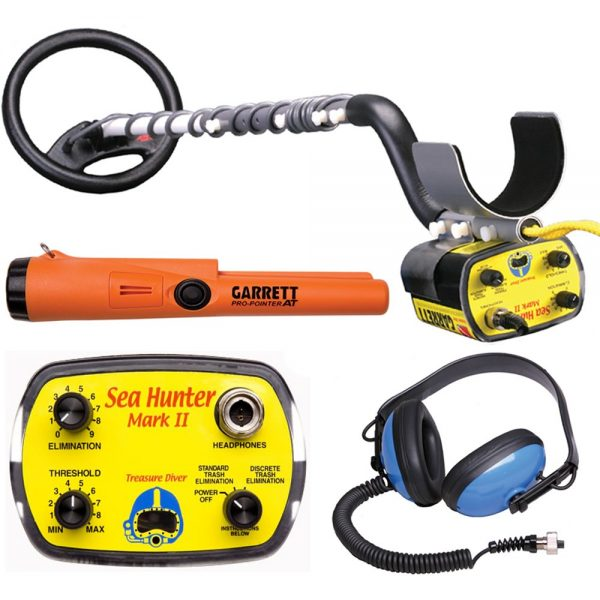 9. Garrett Sea Hunter Mark II w, Underwater Garrett Pro Pointer AT