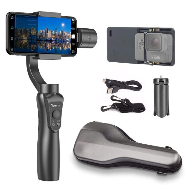 9. Yomito 3-Axis Handheld Gimbal Stabilizer for Smartphone and GoPro