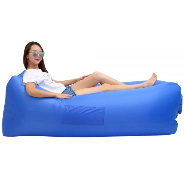 9. iZEEKER Inflatable Lounger Wind Breezy Pouch Couch Windbed Cloud Air Chair Sofa Bed