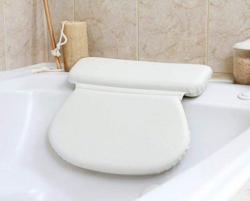 1. Epica 2X-Thick Luxury Spa Bath Pillow, SuperGrip Suction Cups