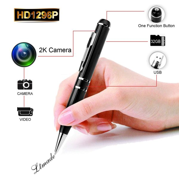 1. Spy Camera LTMADE 1296P 32G Hidden Camera Pen OV4689 Full Real 2K Low Illumination 1080P Pen Camera Multfunction Pen DVR Cam