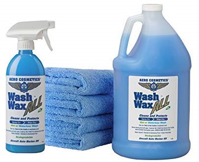 1. Wet or Waterless Car Wash Wax Kit 144 oz. Aircraft Quality for your Car, RV, Boat