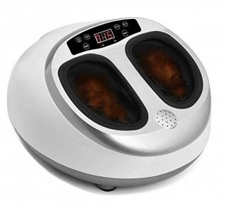 11. Foot Massager, Shiatsu Kneading Foot Massager Massage Machine with Heat for Home