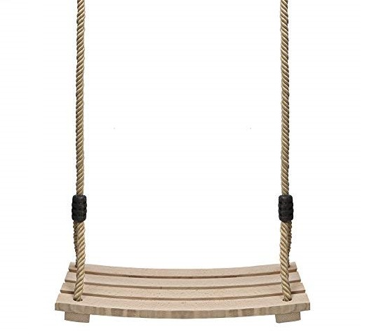 12. Pellor Indoor Outdoor Wood Tree Swing Seat Chair Child Adult Kid