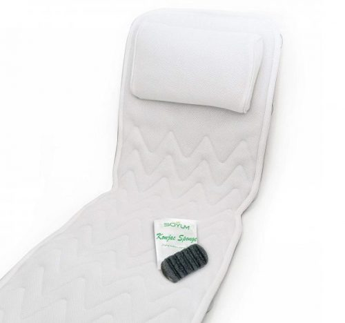 13. IndulgeMe Full Body Bath Pillow & Mat – Non-Slip, Plus Konjac Bath Sponge, Luxury Cushion, Supports Your Head,