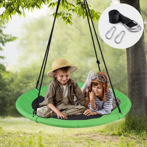 13. WONDERVIEW Tree Swing, Outdoor Swing with Hanging Strap Kit, 40 Inch Diameter 600lb Weight Capacity