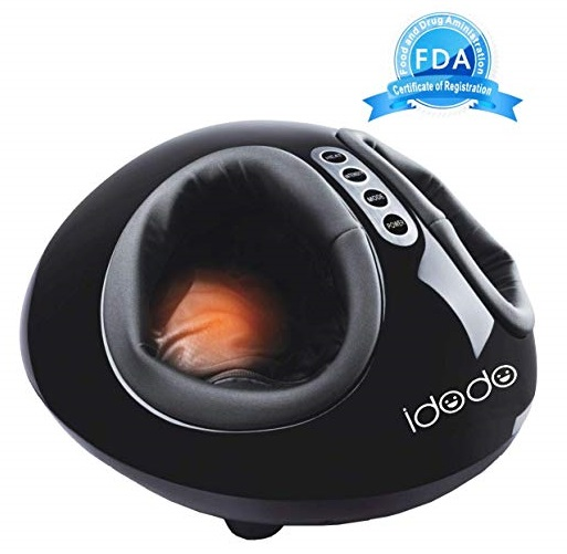 15. Foot Massager, IDODO Electric Shiatsu Deep Kneading Rolling Vibration Feet Massagers