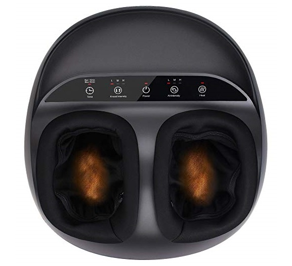 3. RENPHO Shiatsu Foot Massager Machine with Heat, Deep Kneading Therapy, Air Compression, Relieve Foot Pain from Plantar Fasciitis