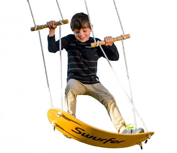 4. Swurfer The Original Tree Swing with Skateboard Seat Design and Adjustable Handles