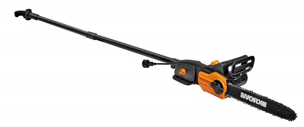 4. WORX WG309 8 Amp 10, 2-in-1 Electric Pole Saw & Chainsaw with Auto-Tension