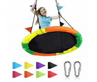 5. Diameter Very Large Swing for Multiple Kids Play,Height Adjustable