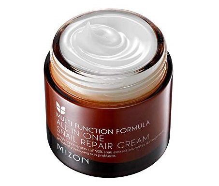 5. Mizon All In One Snail Repair Cream, Day and Night Face Moisturizer with Snail Mucin Extract, 75ml
