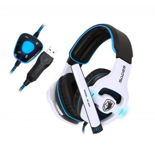 5. SADES Stereo 7.1 Surround Pro USB Gaming Headset with Mic Headband Headphone