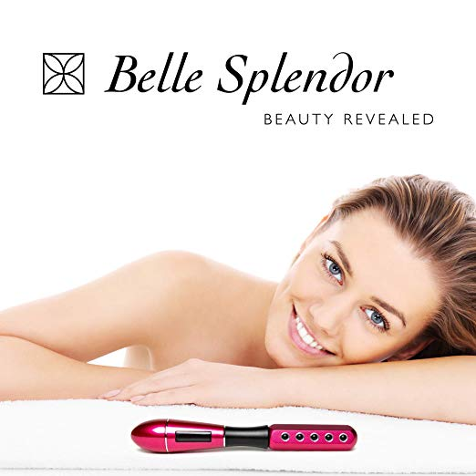 6. Beauty Roller For Face Uplift And Massage by Belle Splendor – Germanium and Red Metal Wand