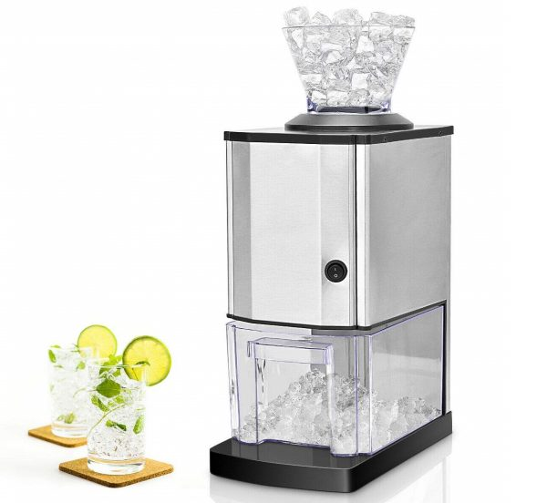 6. Costzon Electric Ice Crusher, Stainless Steel Ice Shaved Machine for Party, Gathering, Home