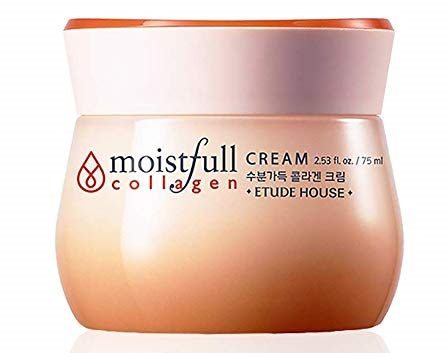 6. ETUDE HOUSE Moistfull Collagen Cream 2.5 fl. oz. (75ml) - Soft Moist Gel Type Moisturizing Facial Cream