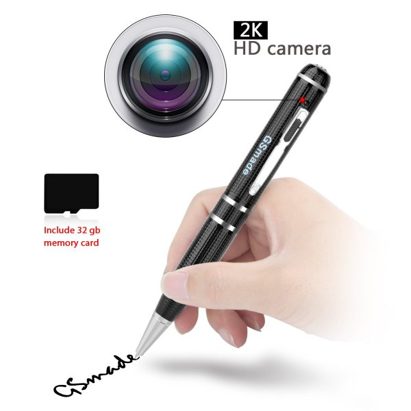 6. Hidden Spy Camera- Star Light Night Vision Pen Full HD 1296P Video Recording Pen Hidden Security Camera